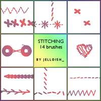 Brushes - Stitching by greyskymorning