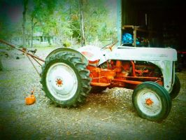 Vintage Ford Tractor by HarleyQuinn2012