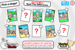 Jinx + Minx - Spot The Difference Game by JinxBunny