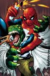 Spidey and The Lizard by crackmatrix