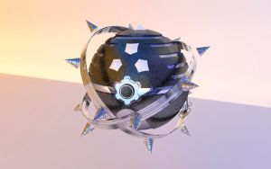 Steel pokeball -commission- by Sara-A2