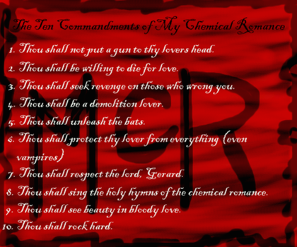 The 10 Commandments of MCR by Yashagirl01