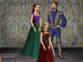 King Triton, Queen Athena, and Princess Arista. by Katharine-Elizabeth