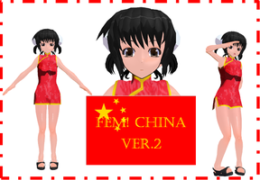 MMD Fem China v.2 by Chibi-Baka-San