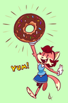 Dippity Donut (Colored) by Atrox-C