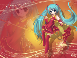 Miku-happy spring festival by Effier-sxy
