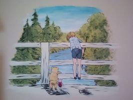 Classic Pooh Mural by wytewinde