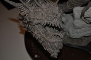 Dragon Wyrm Sculpt WIP 13 by AntWatkins