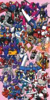 TF 30th Anniversary/MTMTE S1 Postcard set by eabevella
