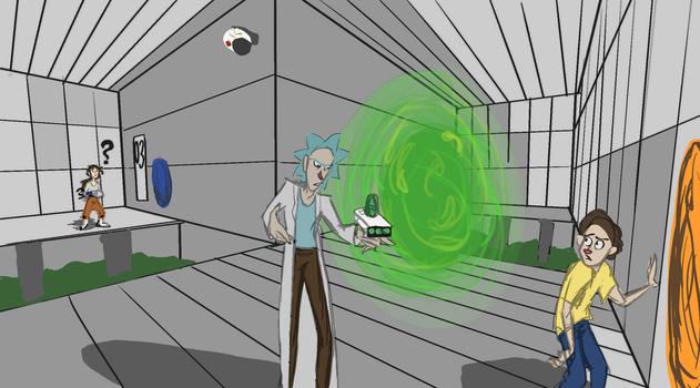 No RestRICKtions (Portal/RickandMorty) by AloofFloof