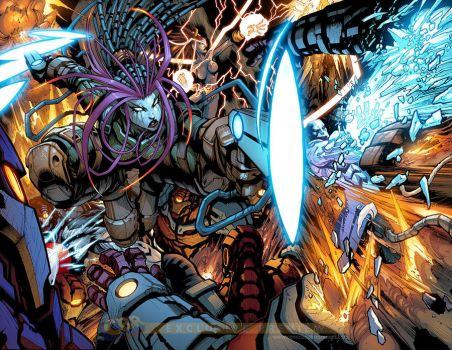 Guardians 3000 issue 4 preview by Sandoval-Art