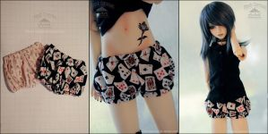 FS: Black Jack Bloomers/Pumpkin Shorts by kuroi-carousel