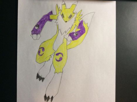 My drawing of Renamon by SplatCrosser