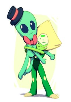 Peridot and Alien by AtomicRay
