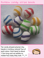 Rainbow candy stripe beads by fairy-cakes