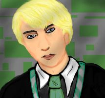 Draco Malfoy Portrait by TheSisters2