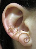Copper Whirl Ear Cuff by lavadragon