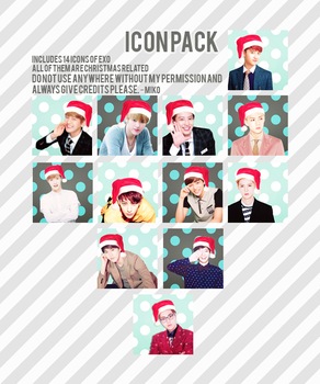 EXO Christmas ICON PACK by Shinny001