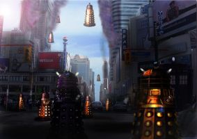 Dalek Invasion by GeneralFOL