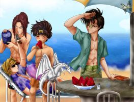 Beach Saiyuki by ILITIAFOREVER