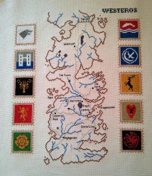 Game of Thrones: Map of Westeros with house sigils by jen-random