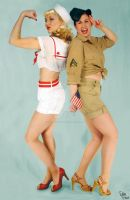 pinups of PFA JULY WWII theme by missjesswinkwink