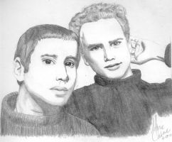 Simon and Garfunkel by seshenkem