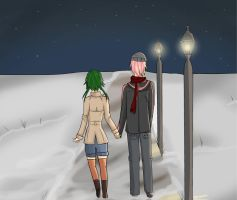 A Walk in the Snow by AngelaLovell