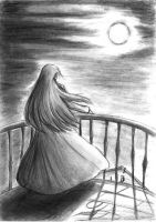 A Girl and the Moon by Sophiera