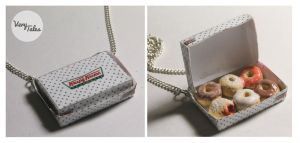 Krispy Kreme Doughnut Box Necklace by ChroniclesOfKate