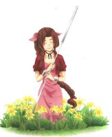 Aerith:The Maiden of Flowers by ClaireRoses