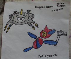 Porygon-Z and Magnezone by nuttbag93
