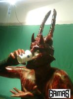 Satanic coffee break, lol. Makeup: Ari Savonen. by NSFF