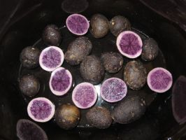 Blue and Purple Potatoes by Windthin