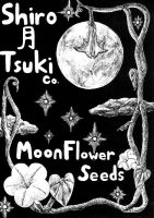 Scratchboard Moon Flower Seed Packet by Kurotsuki-Kietsu