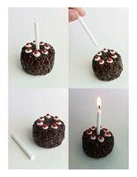 Portal Cake Candle Holder by LaggyCreations