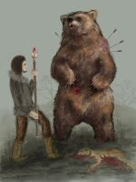 Last moments-bear concept art by Verine