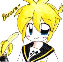 Len and his banana by HoshiMichi