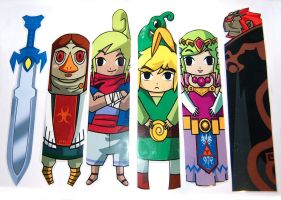 Zelda WW style bookmarks by knil-maloon