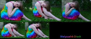 Tie Dye Dress Stock V by Melyssah6-Stock