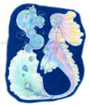 Nothern Auroral Mermaid by SymphonicBenevolence