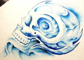 Ice Skull by KingsArt-1