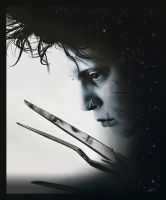 Scissorhands digital painting by thesoulcanwait