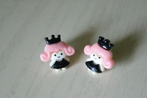 Punky Princess Earrings by MonsterBrandCrafts