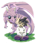 Good Dragon - Gohan and Icarus by COOKEcakes