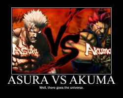 Asura vs Akuma by Onikage108
