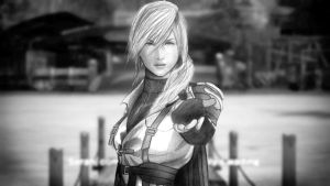 Lightning Final Fantasy XIII-2 scene by PolishPsycho