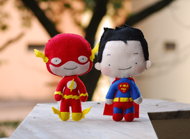 Flash and Superman by Pumpkin-Candy