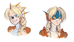 Lita Monster Hunter Sketches by evion