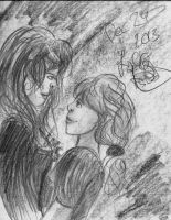 Fem!Sabriel Pencil Drawing by LaCiCi